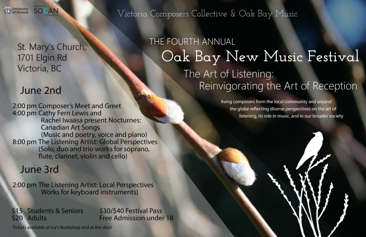 Poster for Fourth Annual Oak Bay New Music Festival
